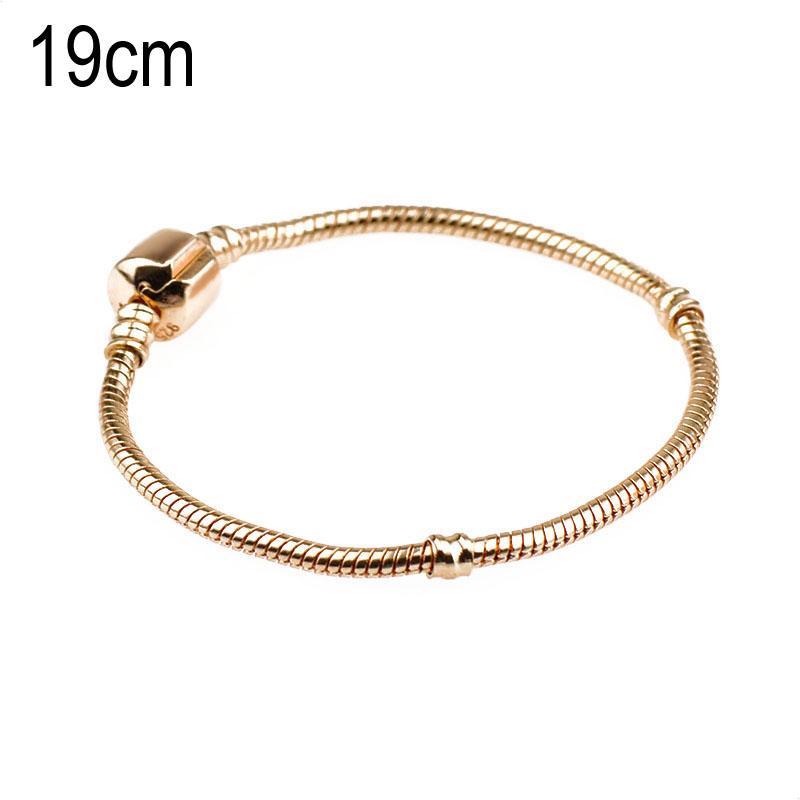 19 CM Copper Golden European Beads bracelets