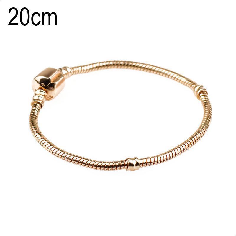 20 CM Copper Golden European Beads bracelets