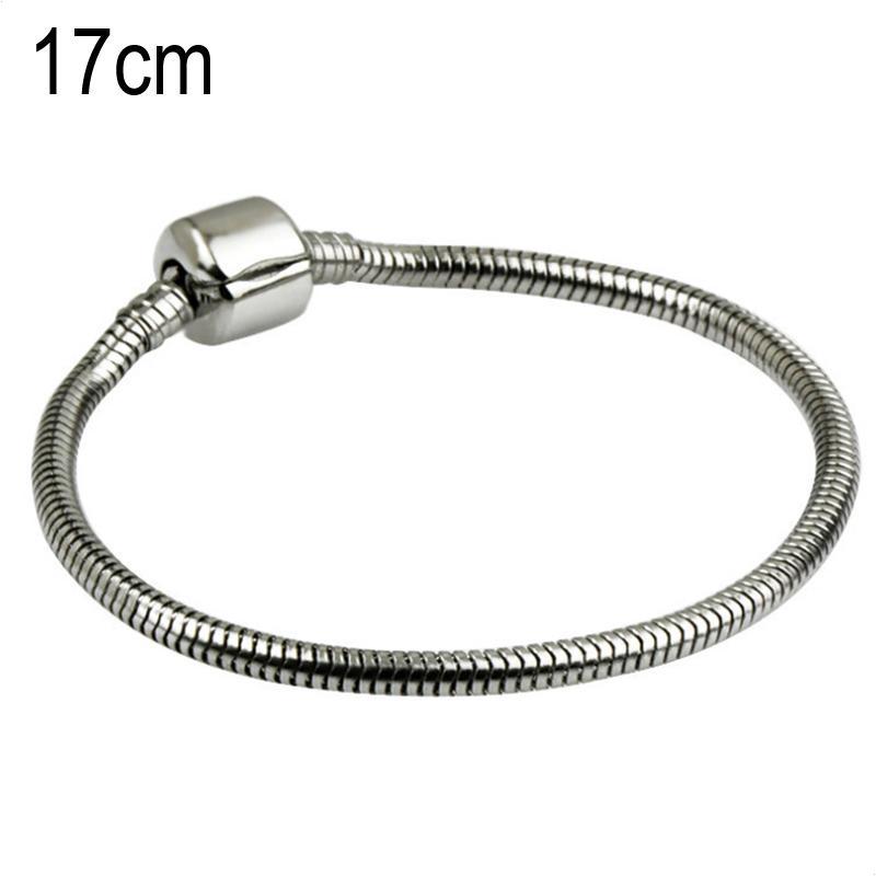 17 CM Stainless steel Stainless steel European Beads bracelets