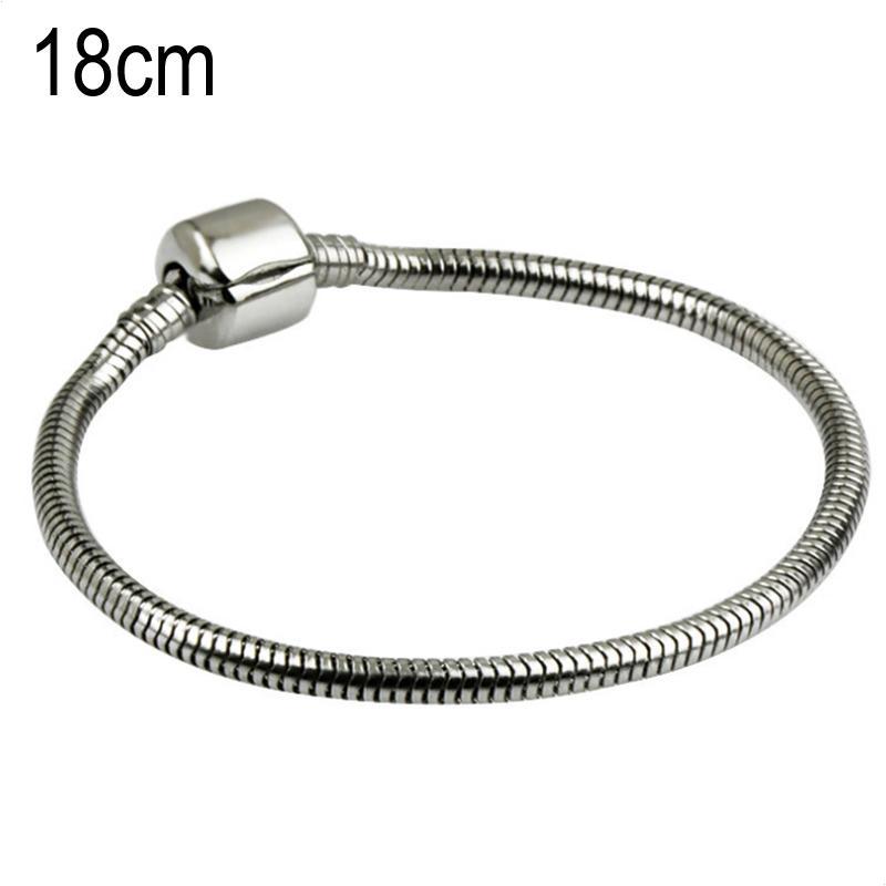 18 CM Stainless steel Stainless steel European Beads bracelets
