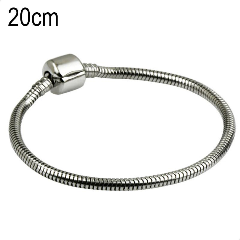 20 CM Stainless steel Stainless steel European Beads bracelets