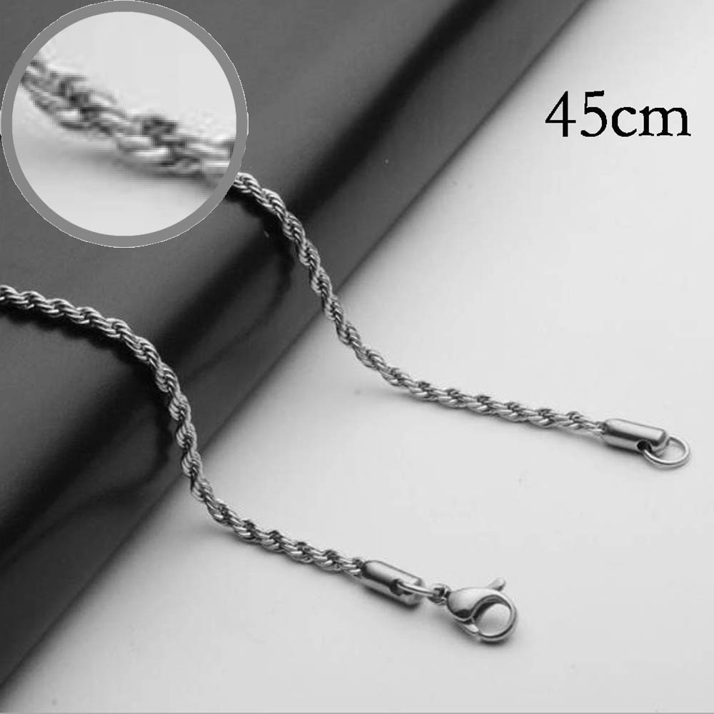 45CM Stainless steel chain necklace for men or women Jewelry Accessories, Wholesales