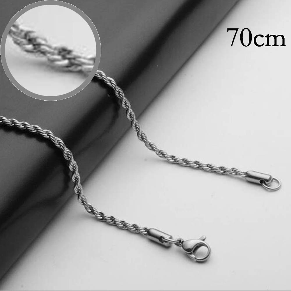 70CM Stainless steel chain necklace for men or women Jewelry Accessories, Wholesales