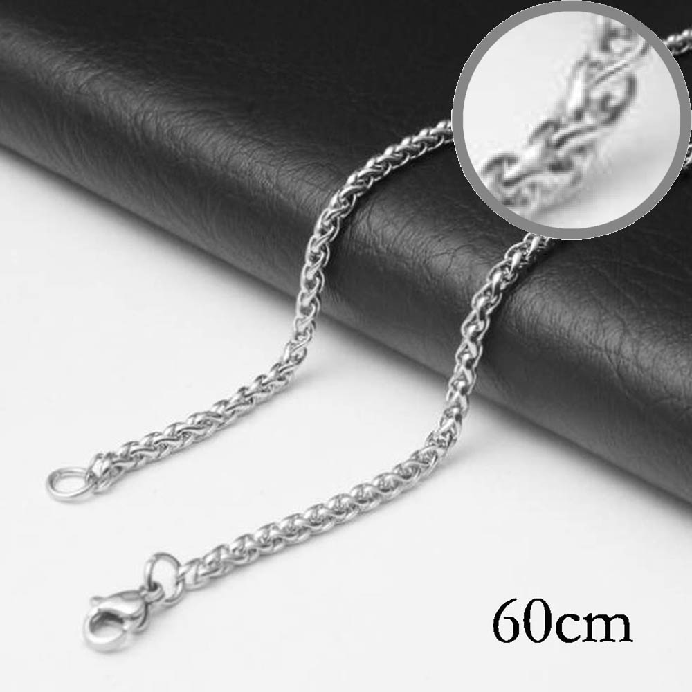 60CM Stainless steel chain necklace Jewelry Accessories, Wholesales