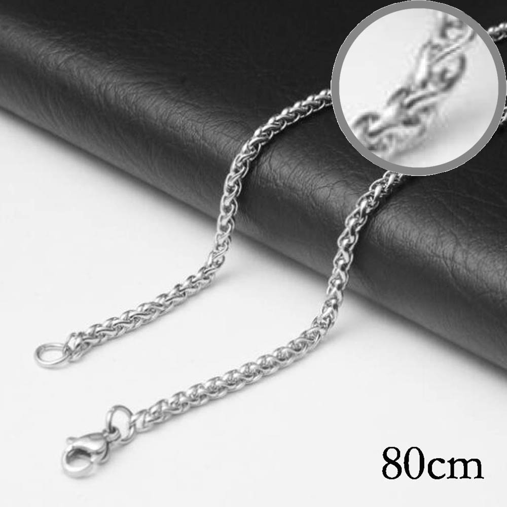 80CM Stainless steel chain necklace Jewelry Accessories, Wholesales