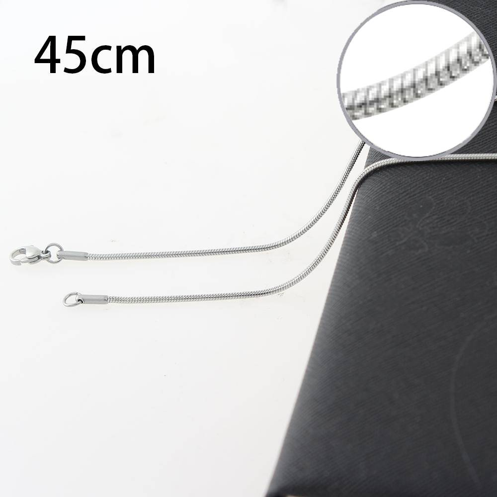 1.5mm*45CM Stainless steel Round snake necklace chain