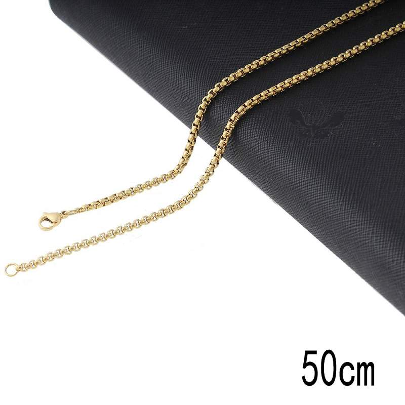 50CM Stainless steel chain necklace plated golden Jewelry Accessories Wholesales