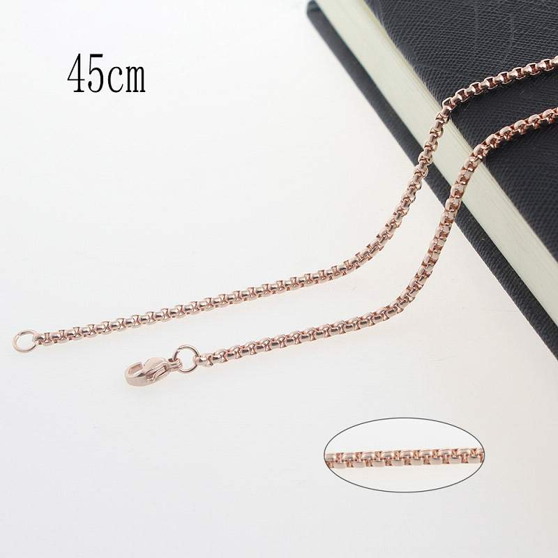 45CM Stainless steel plated rose gold chain necklace Jewelry Accessories Wholesales