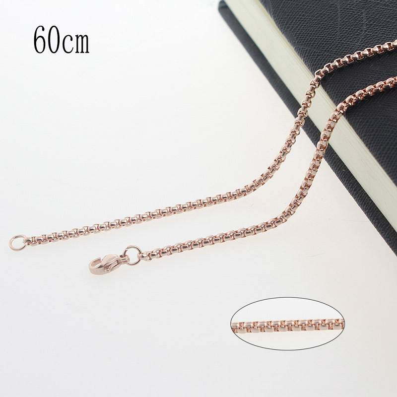 60CM Stainless steel plated rose gold chain necklace Jewelry Accessories Wholesales