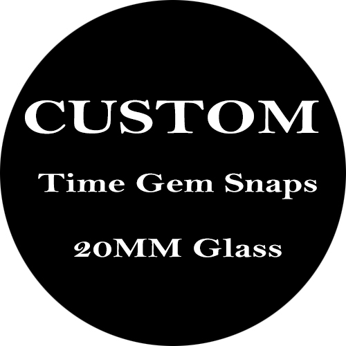 Custom Time Gem Snaps - MOQ 10pcs each images and delivery in 48 hours and please send images by email