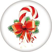 20mm Print Christmas Glass Cover Snaps